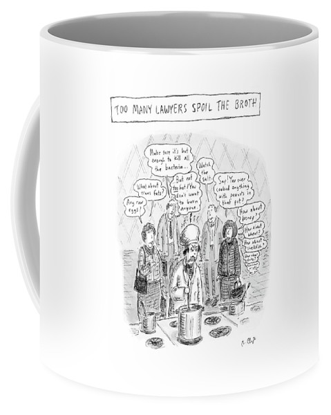 Chef Coffee Mug featuring the drawing New Yorker May 21st, 2007 by Roz Chast