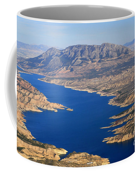 Aerial Photo Coffee Mug featuring the photograph Bad Lands by Guido Montanes Castillo