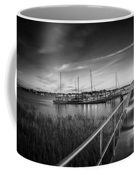 Bridge Of Lions Coffee Mug featuring the photograph Bridge Of Lions St Augustine Florida Painted Bw by Rich Franco