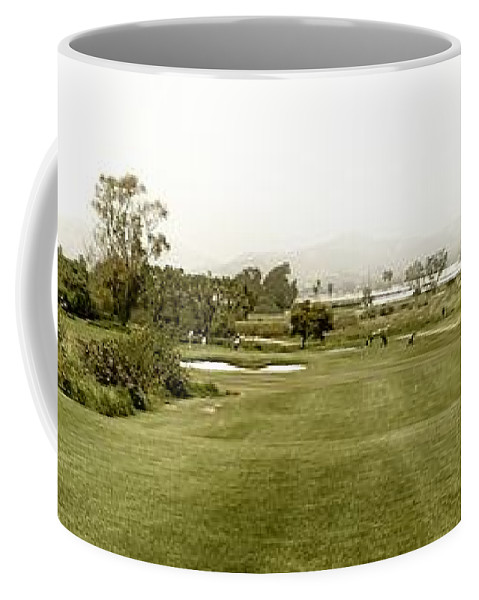 Panoramic Coffee Mug featuring the photograph Golf by Henrik Lehnerer