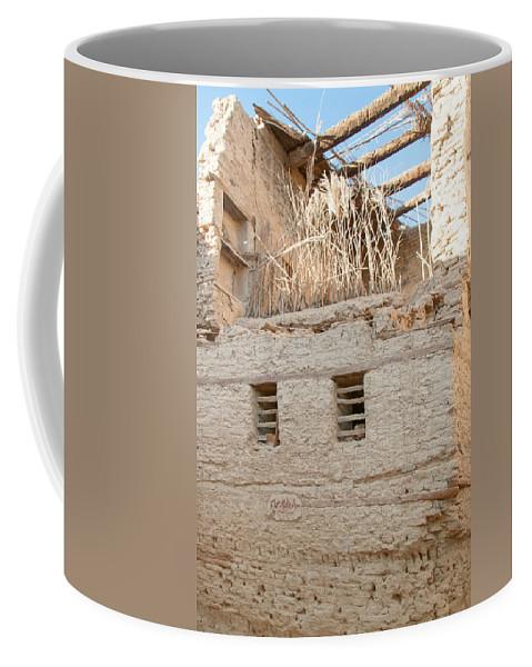 Egypt Mud Brick Village Coffee Mug featuring the digital art Mud Brick Village by Carol Ailles