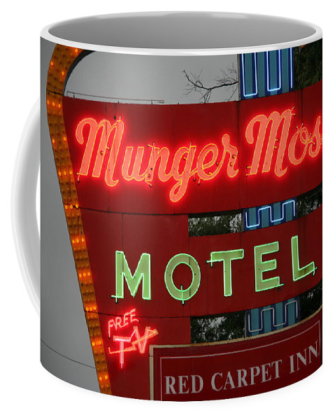 66 Coffee Mug featuring the photograph Route 66 - Munger Moss Motel by Frank Romeo