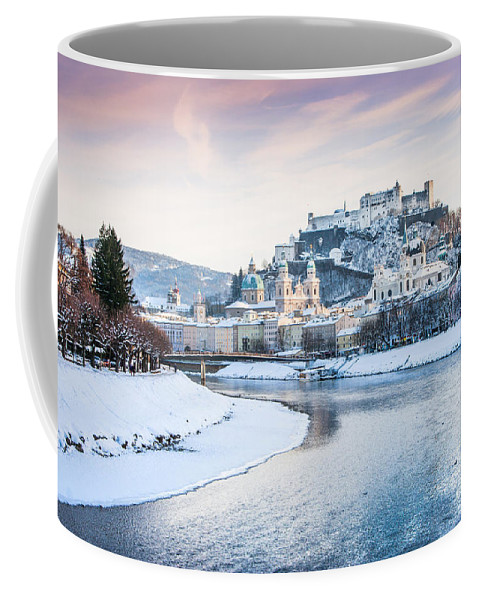 Austria Coffee Mug featuring the photograph Salzburg In Winter by JR Photography