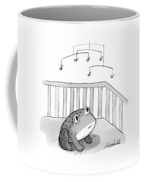 Frog Coffee Mug featuring the drawing New Yorker February 12th, 2007 by Marshall Hopkins