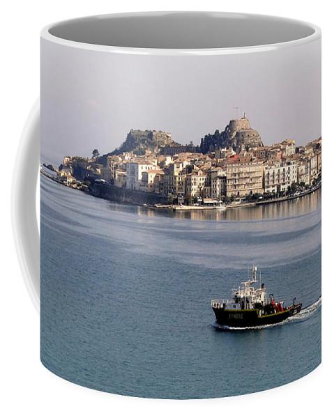Corfu Coffee Mug featuring the photograph Views From Corfu Greece by Richard Rosenshein