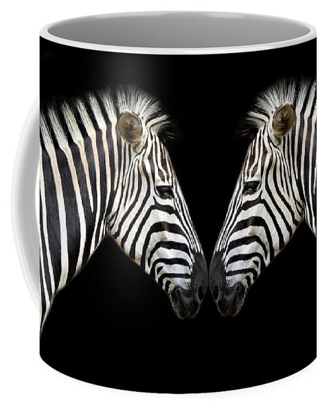 Zebra Coffee Mug featuring the photograph Zebra by Heike Hultsch
