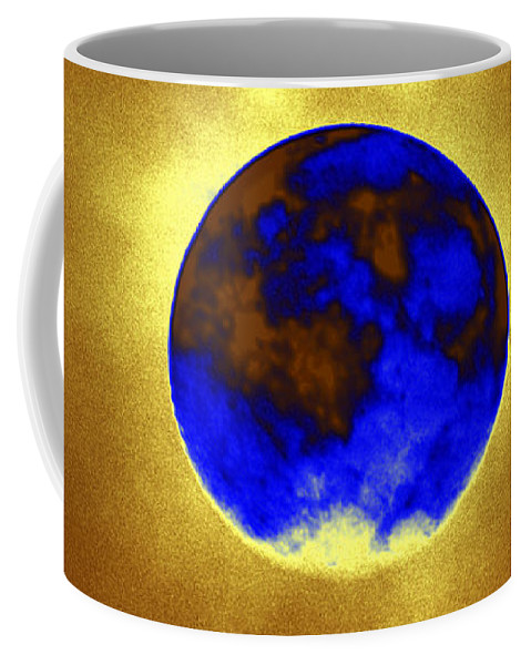 A Baking Planet Coffee Mug featuring the digital art A Baking Planet by Kim Pate