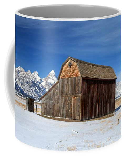 Grand Teton National Park Coffee Mug featuring the photograph A Barn With A View by Adam Jewell
