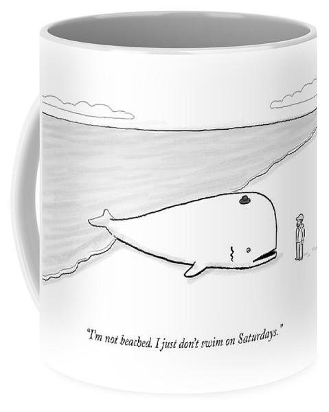 A Beached Whale Wears A Hasidic Rabbi Hat Coffee Mug