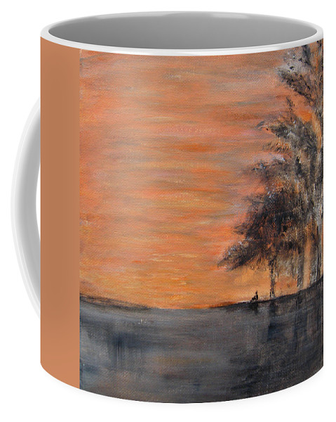 Acrylic Coffee Mug featuring the painting A Beautiful Day by Alina Cristina Frent