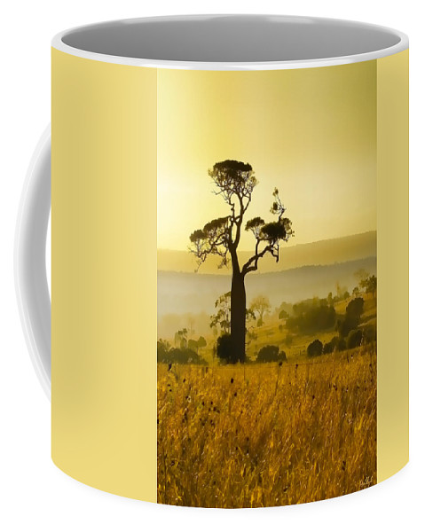 Landscapes Coffee Mug featuring the photograph A Boab Sunrise by Holly Kempe
