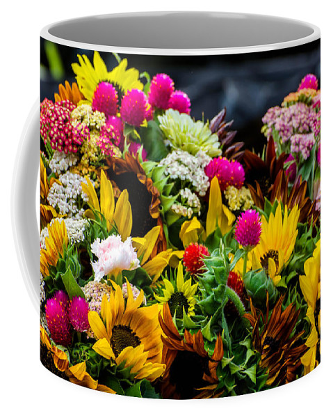 Flower Coffee Mug featuring the photograph A Bouquet Of Flowers by Michael Moriarty