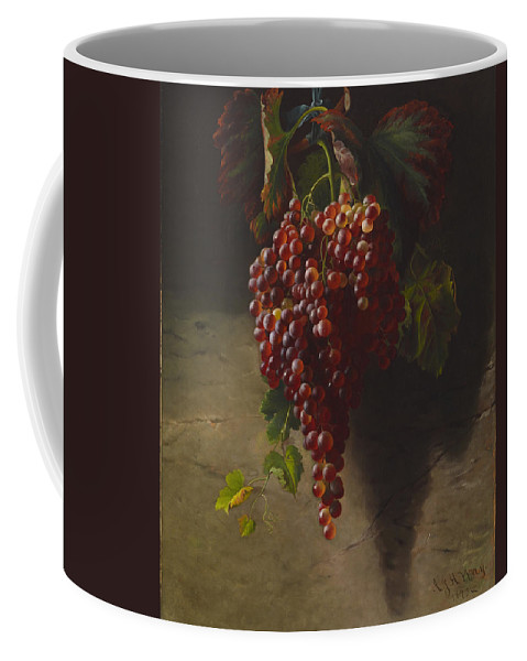 Andrew John Henry Way Coffee Mug featuring the digital art A Bunch Of Grapes by Andrew John Henry Way