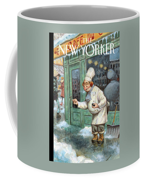 Cooking Coffee Mug featuring the painting Just a Pinch by Peter de Seve