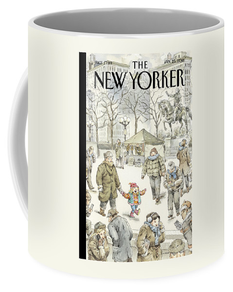 Child Coffee Mug featuring the painting Winter Delight by John Cuneo