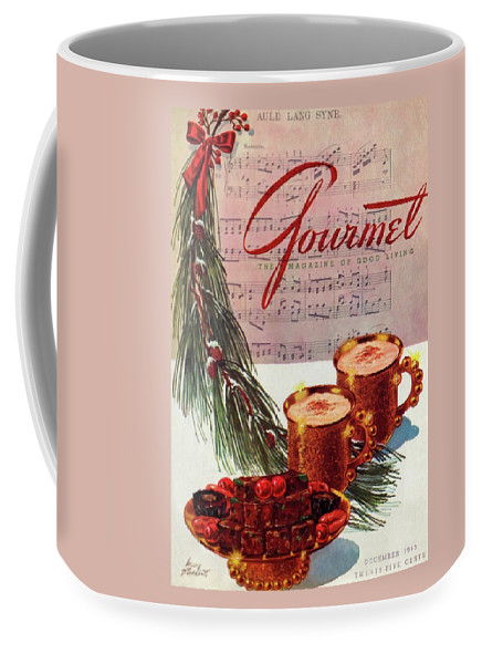 Illustration Coffee Mug featuring the painting A Christmas Gourmet Cover by Henry Stahlhut