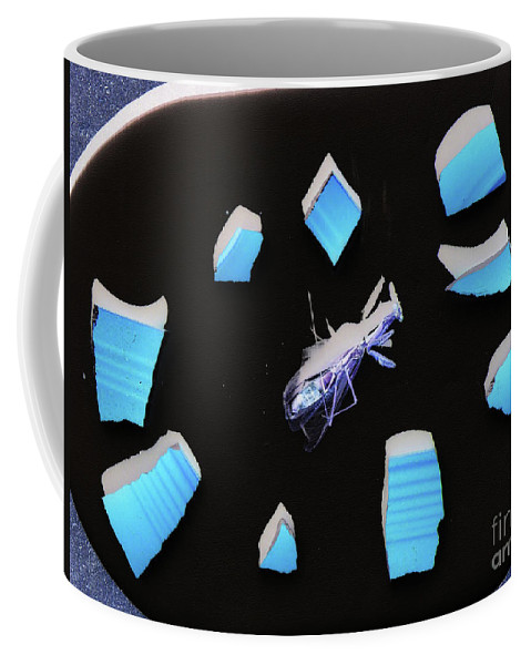 Abstract Insect Gallery Wrap Coffee Mug featuring the photograph A Clockwork Blue by Joe Jake Pratt