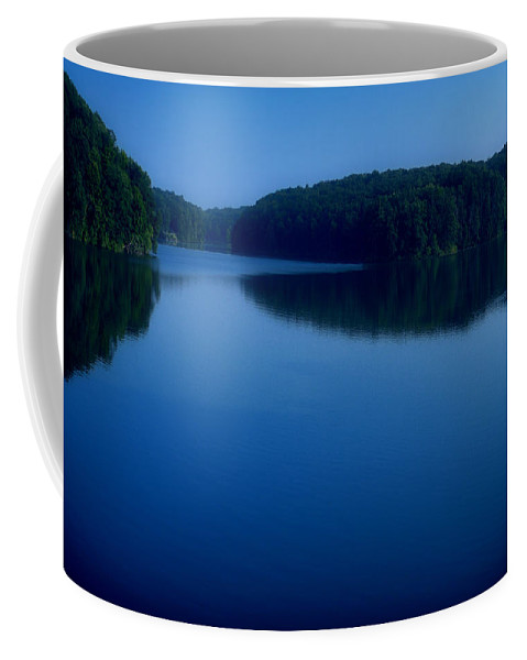 Cobalt Coffee Mug featuring the photograph A Cobalt Twilight by Thomas Woolworth