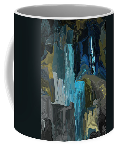 Fine Art Coffee Mug featuring the digital art A Cold Sunday Morning Doodle 122312 by David Lane