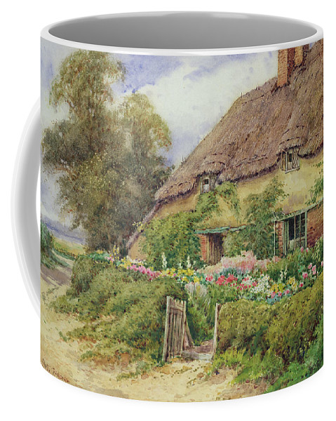 Cottage Coffee Mug featuring the painting A Cottage At Hythe by Hetty Richards