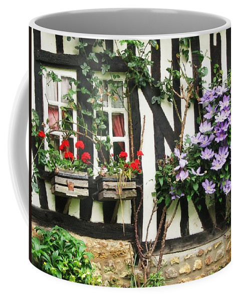 Cottage Coffee Mug featuring the photograph A Cottage In Normandy by Mary Ellen Mueller Legault