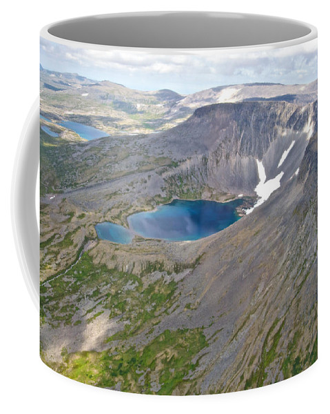 A Crater Lake From The Seaplane Coffee Mug featuring the photograph A Crater Lake From The Seaplane In Katmai National Preserve-alaska by Ruth Hager