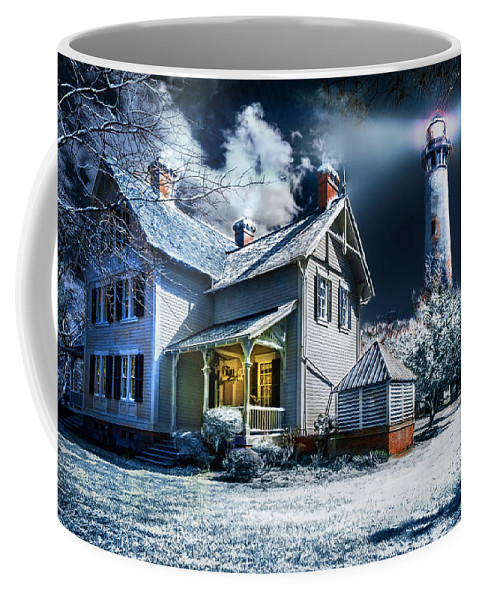 Currituck Coffee Mug featuring the photograph A Currituck Christmas by Mary Almond