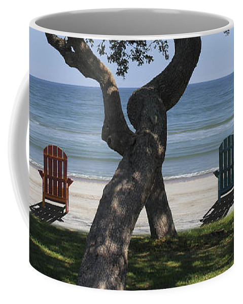 Seascape Coffee Mug featuring the photograph A Day At The Beach by Mike McGlothlen