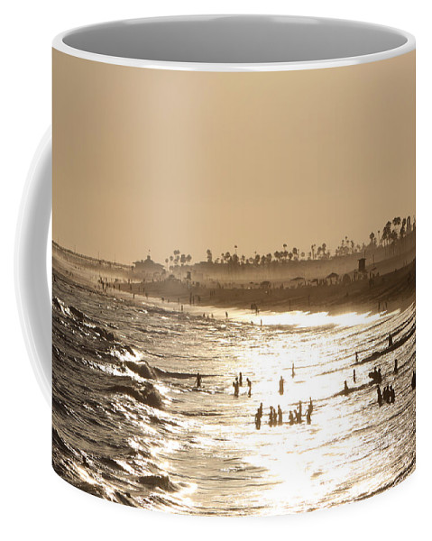 Landscape Coffee Mug featuring the photograph A Day At The Beach by Shoal Hollingsworth