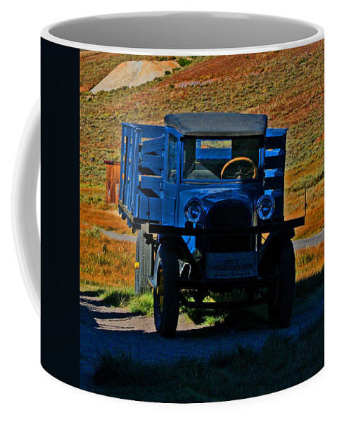 Dodge Trucks Coffee Mug featuring the photograph A Dodge In Bodie by Joseph Coulombe