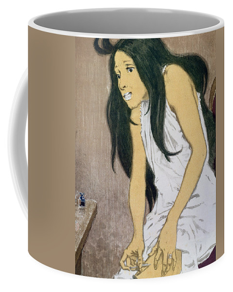Droguee Se Piquant Coffee Mug featuring the painting A Drug Addict Injecting Herself by Eugene Grasset
