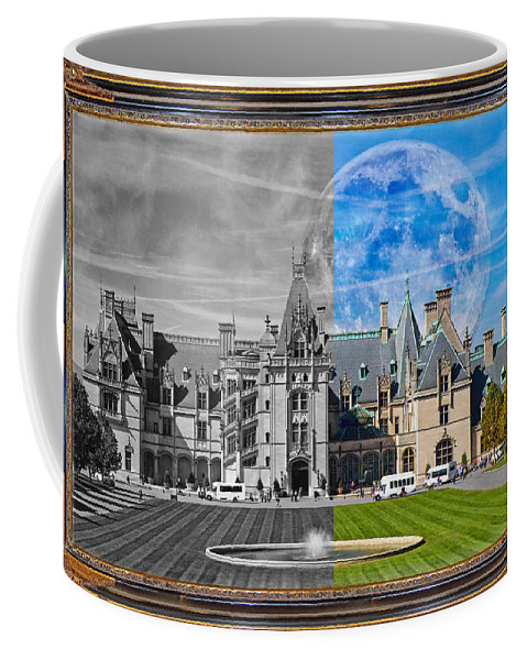 Biltmore Coffee Mug featuring the mixed media A Feeling Of Past And Present by Betsy Knapp