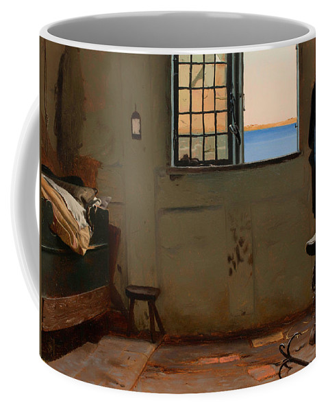 Painting Coffee Mug featuring the painting A Fisherman's Bedroom by Mountain Dreams