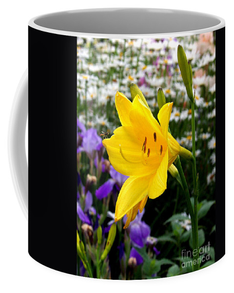 Lily Coffee Mug featuring the photograph A Fly In The Ointment by Kathy McClure