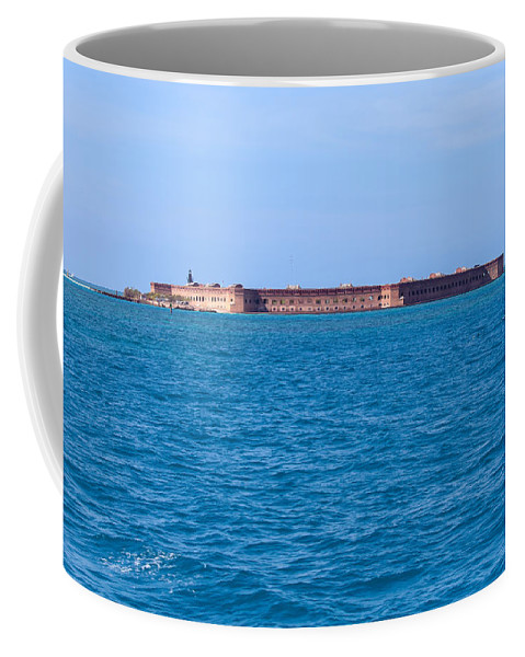 America Coffee Mug featuring the photograph A Fort Atop An Island by John M Bailey