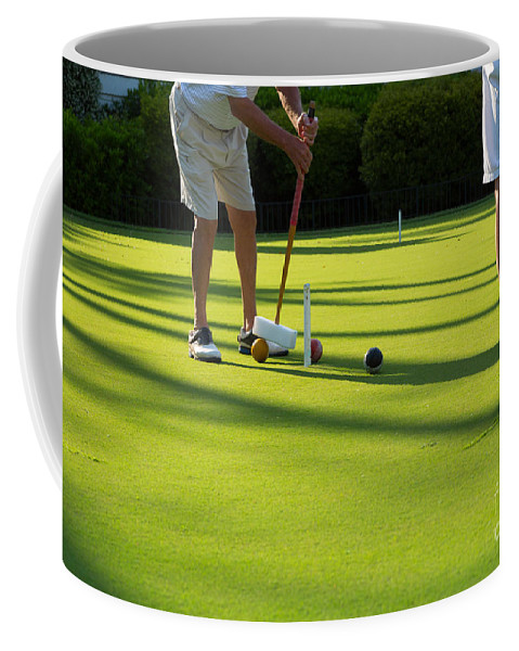 Croquet Coffee Mug featuring the photograph A Game Of Croquet by Louise Heusinkveld