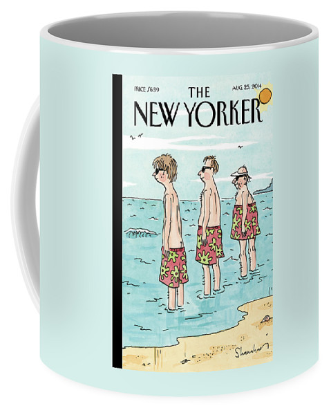 Beach Coffee Mug featuring the painting Trunk Show by Danny Shanahan