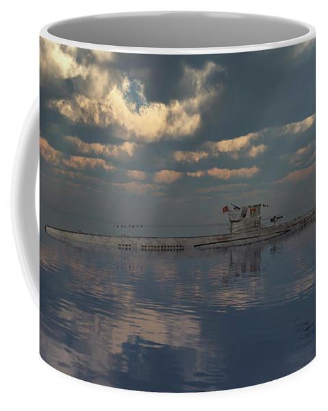 Horizontal Coffee Mug featuring the photograph A German U-boat On Patrol by Mark Stevenson