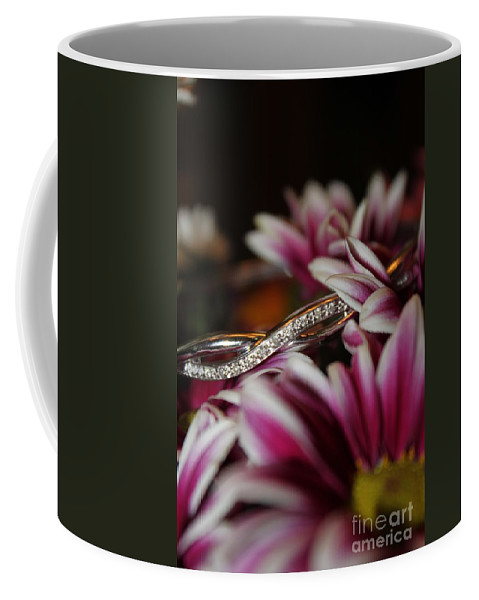 Diamonds Coffee Mug featuring the photograph A Gift Amongst The Flowers by Jennifer E Doll