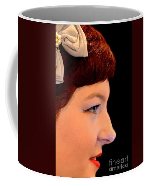 A Girl Named Meg Coffee Mug featuring the photograph A Girl Named Meg by Maria Urso