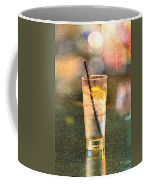 Glass Coffee Mug featuring the painting A Glass Of Water by Angela Stanton