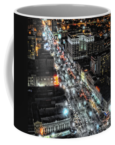 New Orleans Coffee Mug featuring the photograph A Gothic Night In New Orleans On Canal Street by Kathleen K Parker