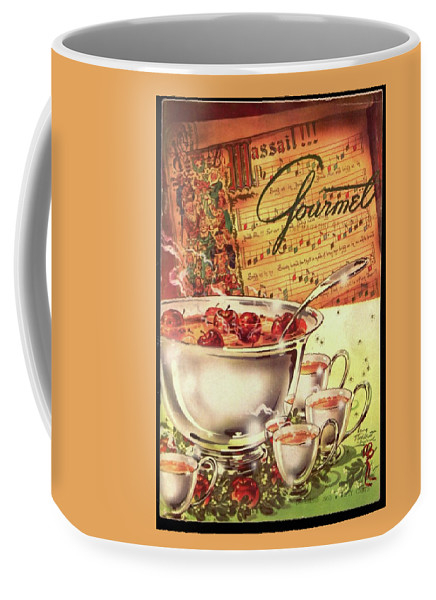 Illustration Coffee Mug featuring the photograph A Gourmet Cover Of Apples by Henry Stahlhut