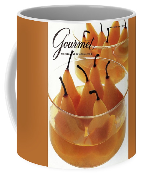 Food Coffee Mug featuring the photograph A Gourmet Cover Of Baked Pears by Romulo Yanes