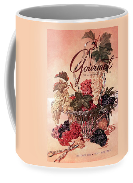 Illustration Coffee Mug featuring the photograph A Gourmet Cover Of Grapes by Henry Stahlhut