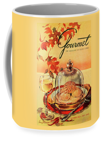 Illustration Coffee Mug featuring the photograph A Gourmet Cover Of Mushrooms On Toast by Henry Stahlhut