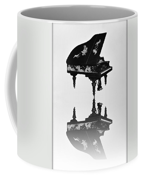 A Coffee Mug featuring the photograph A Grand Piano by Bill Cannon