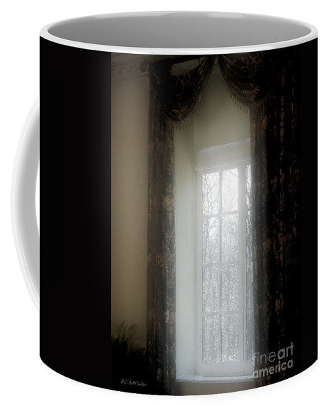 Curtains Coffee Mug featuring the painting A Hazy Shade Of Winter by RC deWinter