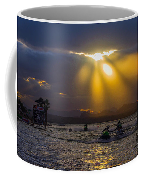 Sky Coffee Mug featuring the photograph A Heavenly Display by Joy McAdams