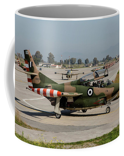 Greece Coffee Mug featuring the photograph A Hellenic Air Force T-2 Buckeye by Timm Ziegenthaler